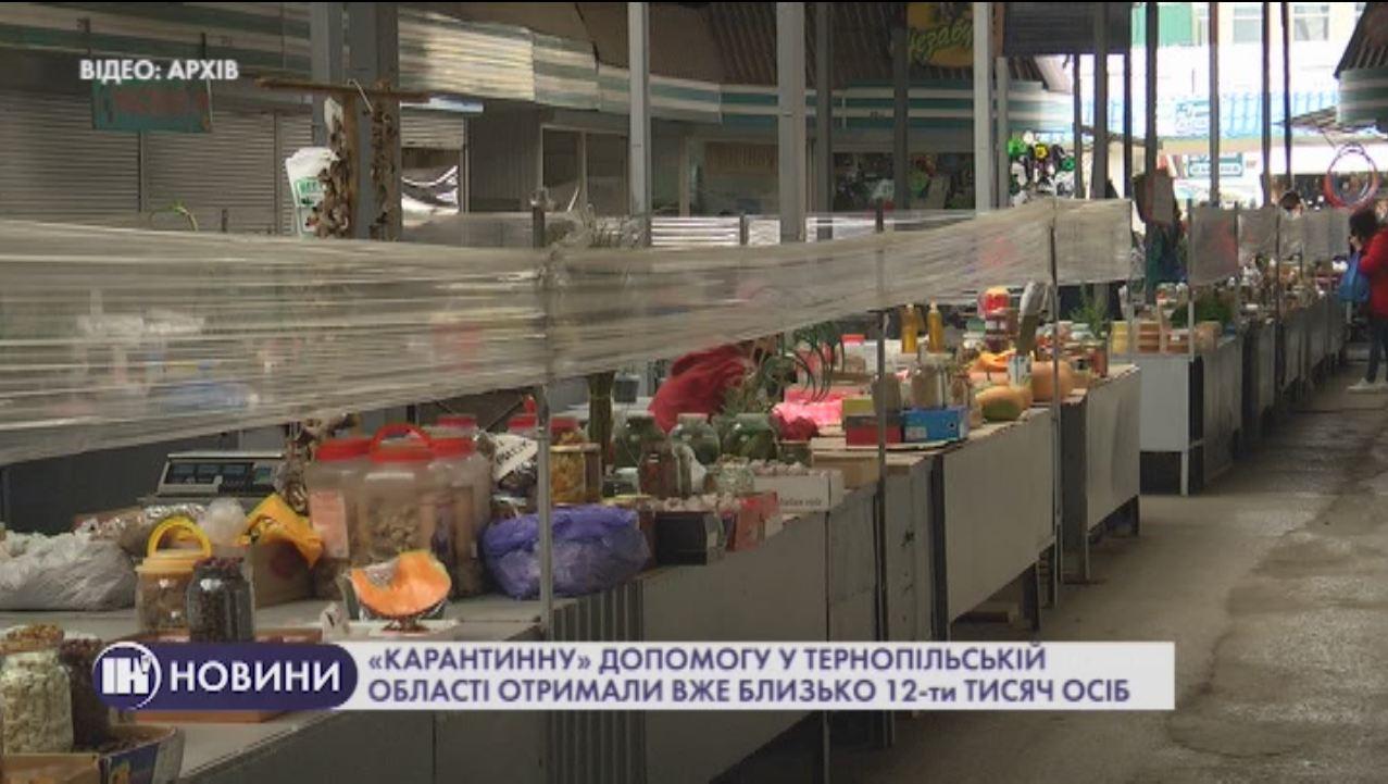 «Карантинну» допомогу у Тернопільській області отримали вже близько 12-ти тисяч осіб