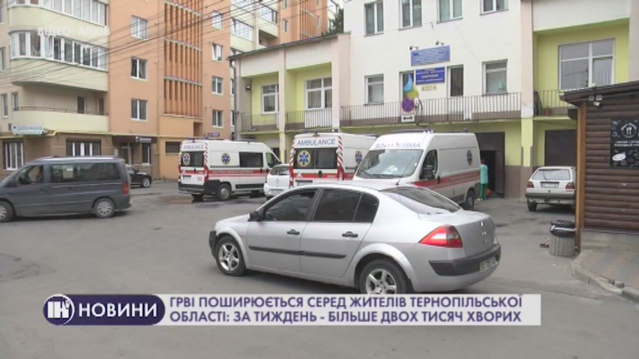 ГРВІ поширюється серед жителів Тернопільської області: за тиждень – більше двох тисяч хворих