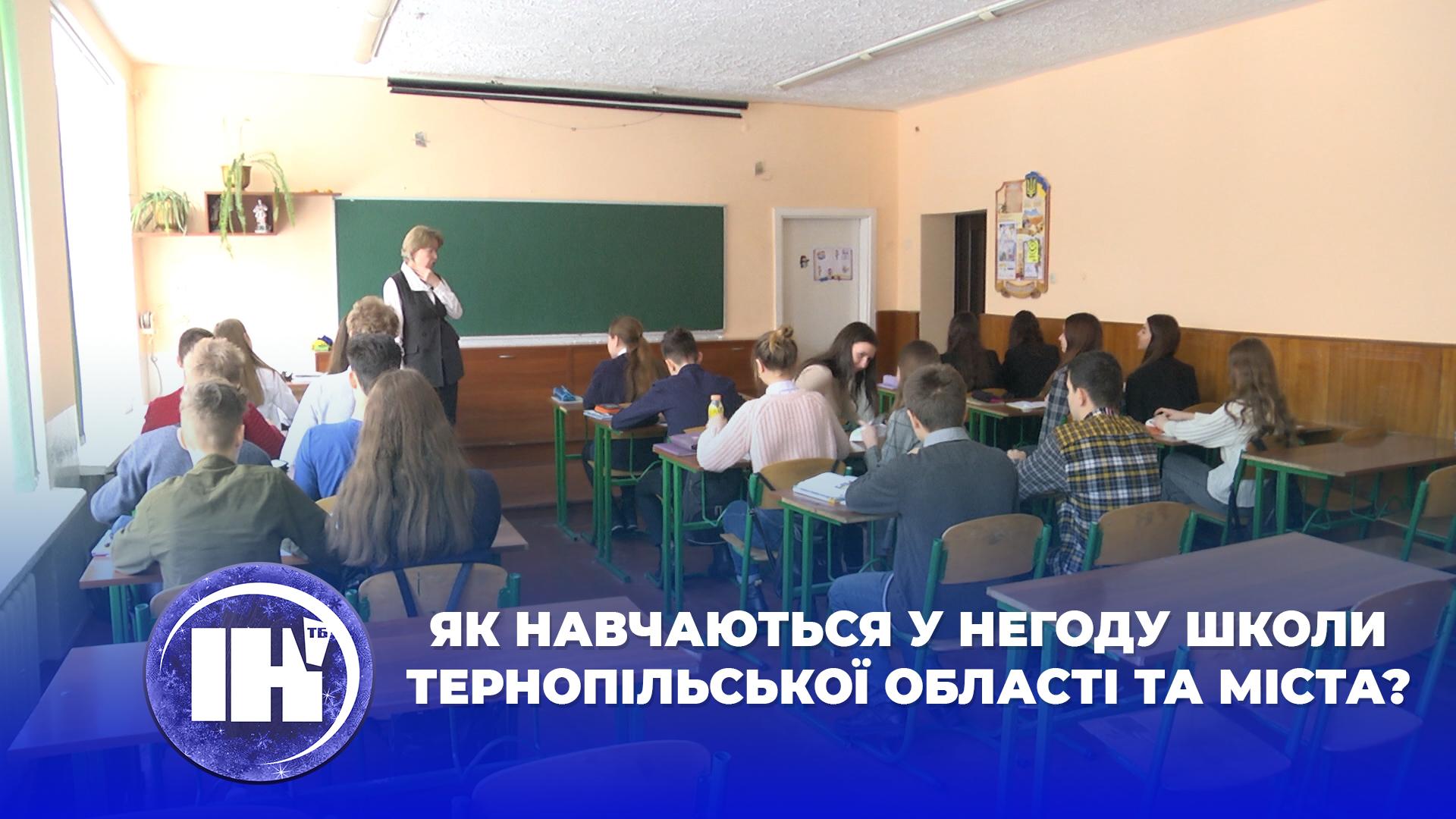 Як навчаються у негоду школи Тернопільської області та міста?