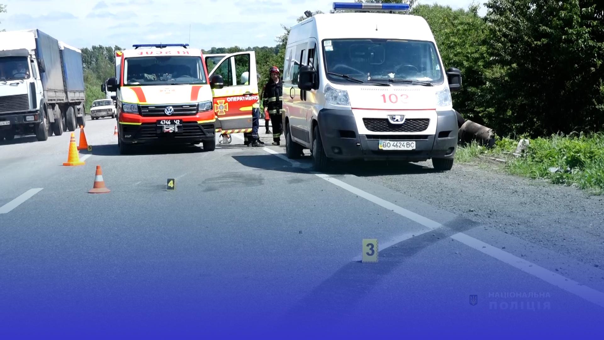Три аварії: п'ятеро людей травмувались за вихідні на Тернопільщині