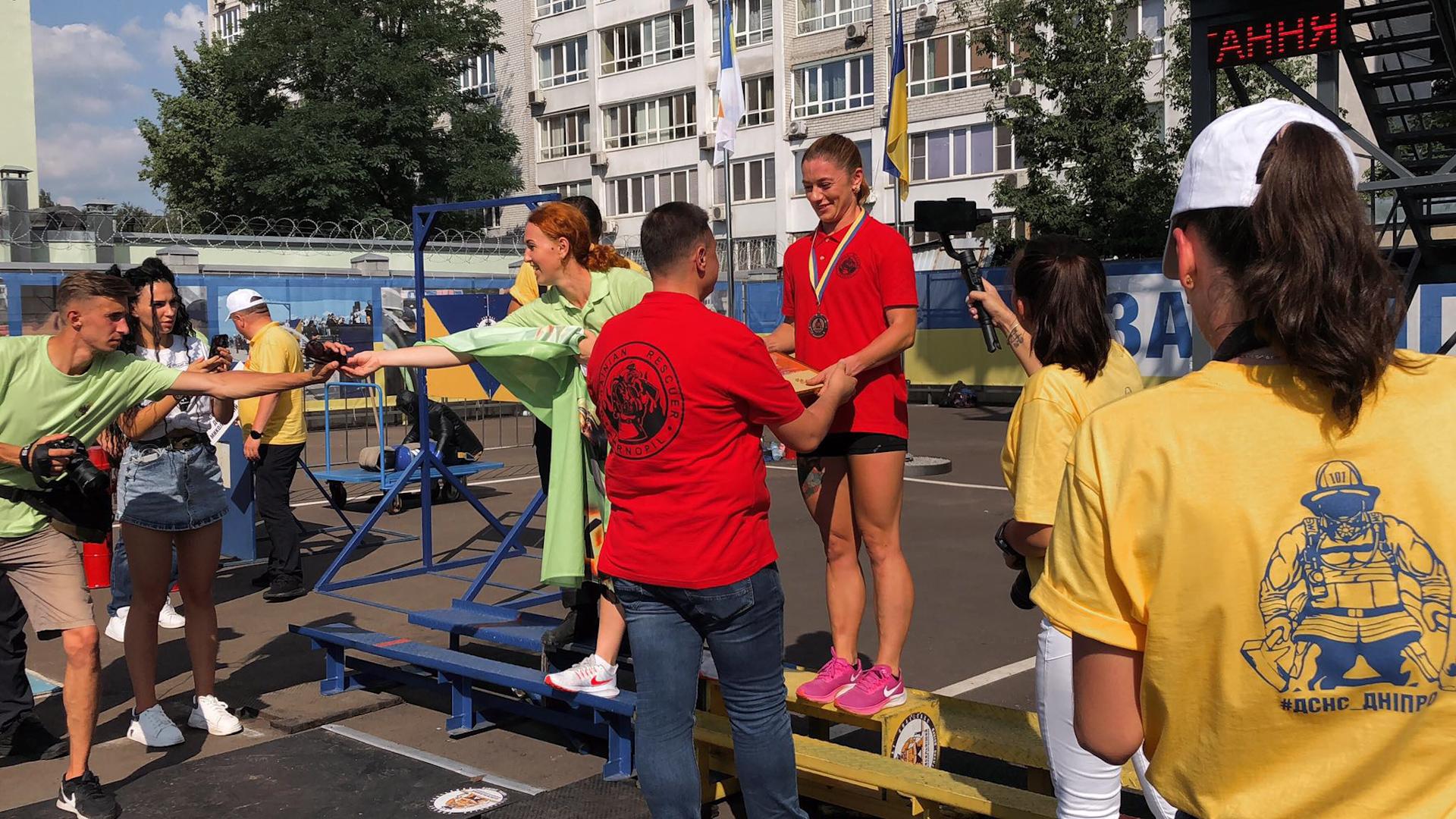 """У тернопільської рятувальниці – бронза на змаганнях """"Дніпровська хвиля 2021"""""""
