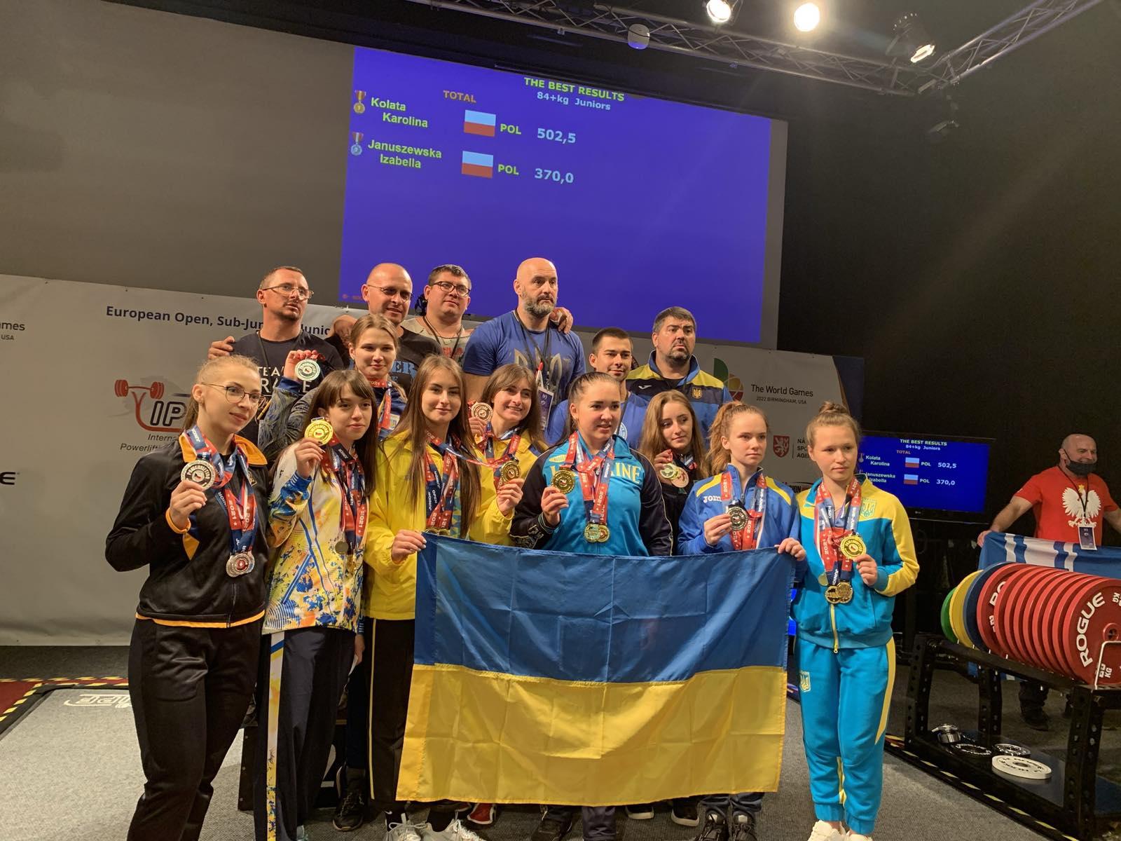 """Три """"срібла"""" привезли юні тернопільські спортсменки із чемпіонату Європи з пауерліфтингу"""